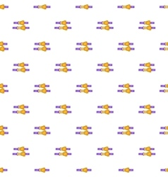 Seat belt pattern cartoon style vector