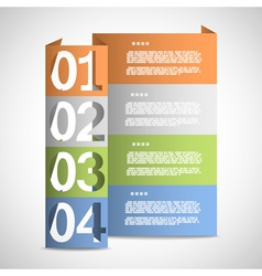 Paper options template eps10 vector