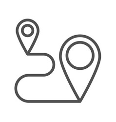 Route planner line icon vector