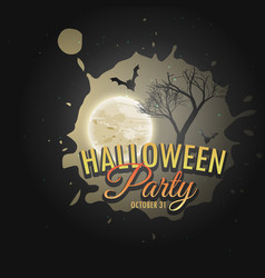 Halloween party invitation poster template vector