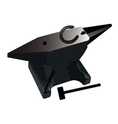anvil and horseshoe vector image