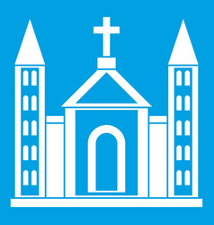 christian catholic church building icon white vector image