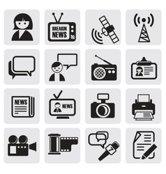 Reporter icons set vector
