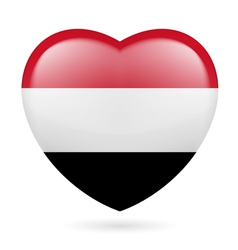 Heart icon of yemen vector