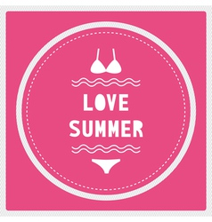 Love summer8 vector image