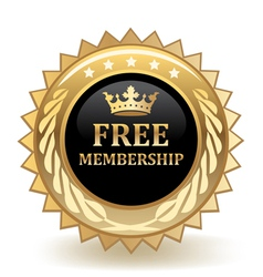 Free membership badge vector