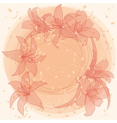 pastel lilies vector image