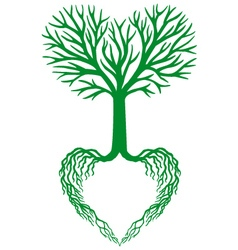 Tree of life green heart tree vector