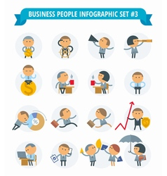 Men business icons vector