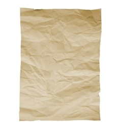 Piece of old paper on white background image vector