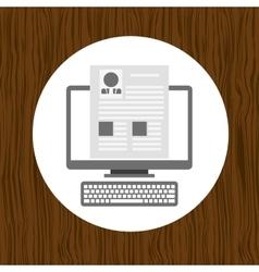 Professional online design vector