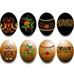 Ornamented Easter eggs vector image