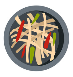 Asian salad icon isolated vector