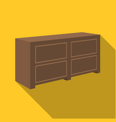 brown bedside table with drawersnightstand next vector image