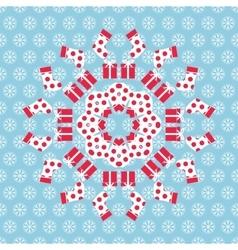 Christmas kaleidoscope vector