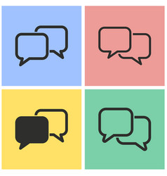 Communication bubble icon set vector