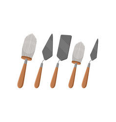 Different tools for archeology excavations big vector