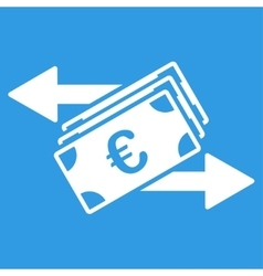 Euro money transfer icon vector