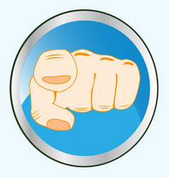 gesture finger on button vector image vector image
