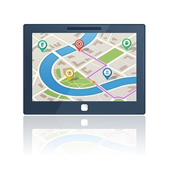 Gps navigation device vector