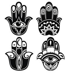 Hamsa hand vector image vector image