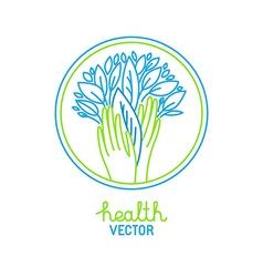 Health logo concept vector