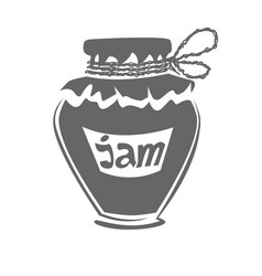 jar of jam silhouette vector image vector image
