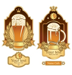 labels for beer vector image vector image