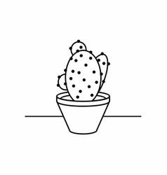 liner cactus icon vector image