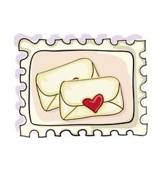 Love letter postage stamp vector