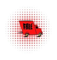 Truck comics icon vector