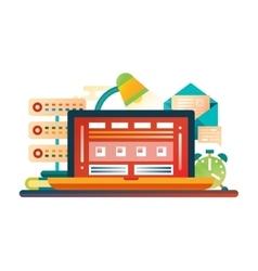 Work Place - flat design website banner vector image vector image