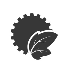 Leaf gear silhouette design vector