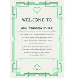 Great Quality Style Invitation in Art Deco or vector image