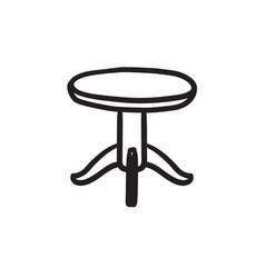 Round table sketch icon vector