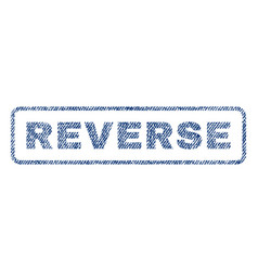 Reverse textile stamp vector