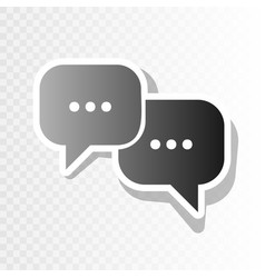 speech bubbles sign  new year blackish vector image