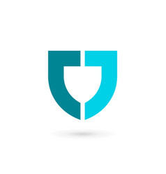 Letter j shield logo icon design template elements vector