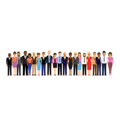 People in a line vector