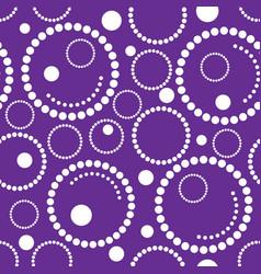 Geometric purple background circles vector