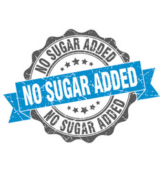 No sugar added stamp sign seal vector