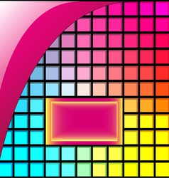 abstract background of squares of glass with space vector image