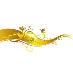 Golden luxury design element vector image