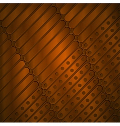 Steampunk background of metal plates vector
