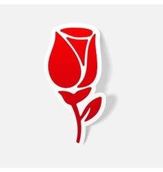 Realistic design element rose vector