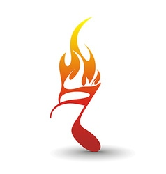 Fire note vector
