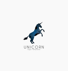 Unicorn logo cosmic unicorn creative logo vector