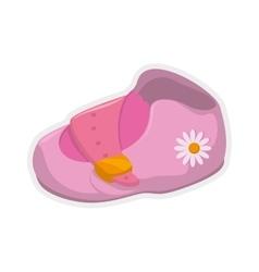 Shoe icon baby concept graphic vector