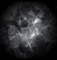 abstract low poly background with connecting dots vector image