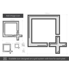 Add image line icon vector